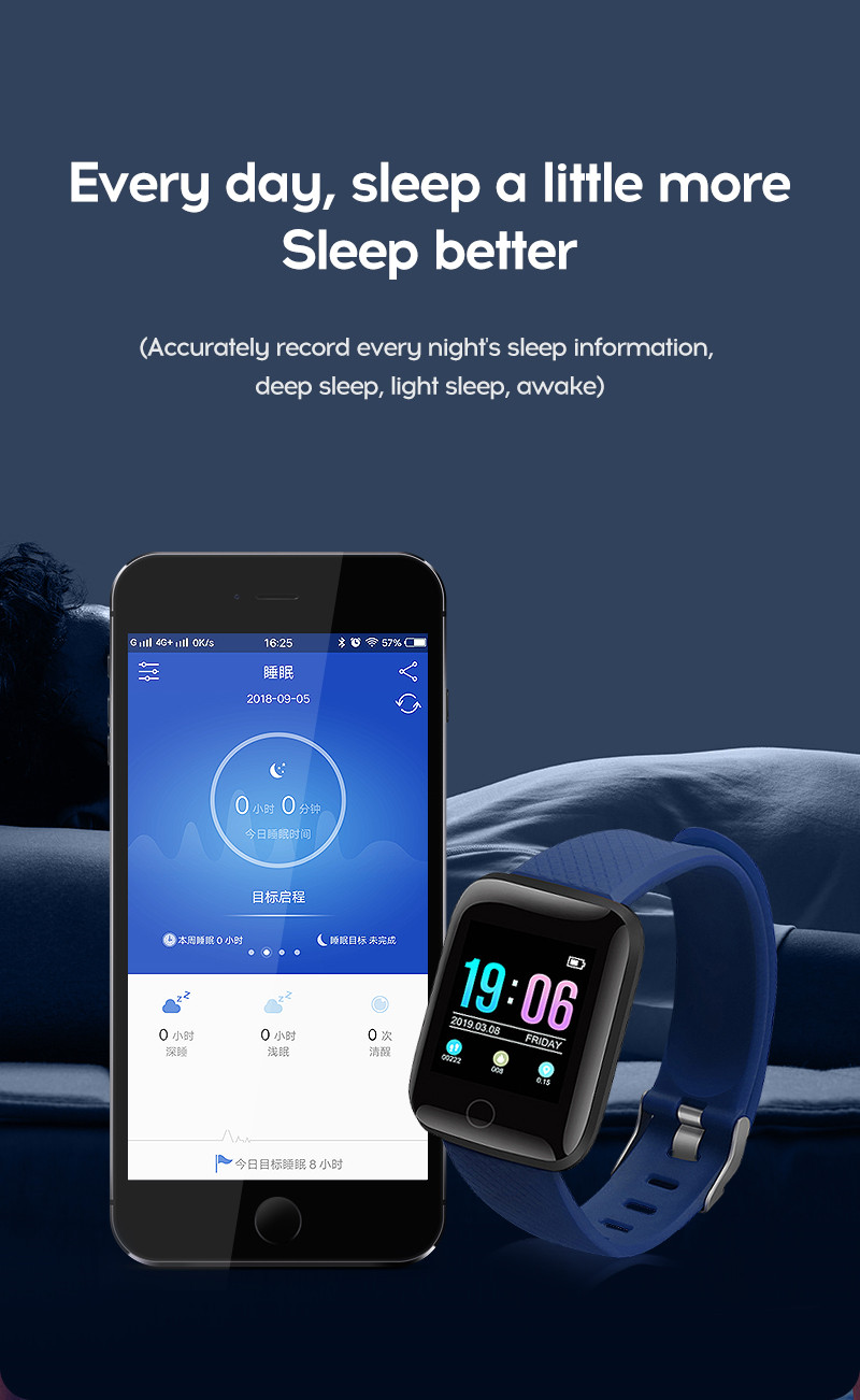 LYKRY A6S Smart Bracelet Fitness Tracker Heart Rate Blood Pressure Monitor Smart Band IP67 Waterproof Sports For Android IOS+Box (14)